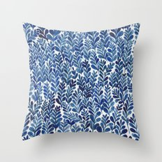 Indigo blues Throw Pillow