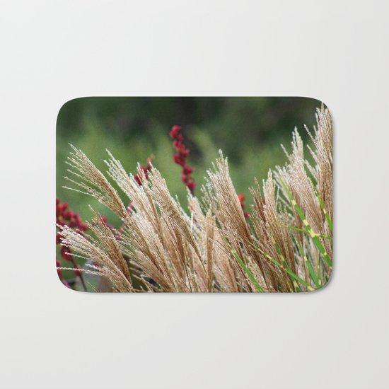 Peaceful Wild Grass Bath Mat
