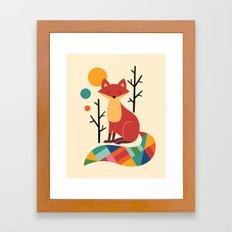 Rainbow Fox Framed Art Print