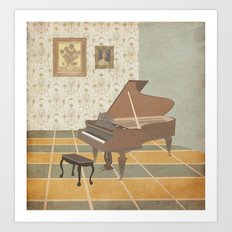 Piano Room Art Print
