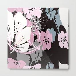 prink floral Metal Print