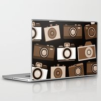 cameras Laptop & iPad Skins featuring cameras (black) by vitamin