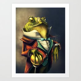 Country Club Collection #6: A Time Piece Fit For A Toad Art Print