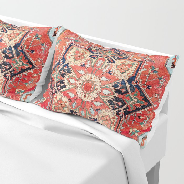 Heriz Azerbaijan Northwest Persian Rug Print Pillow Sham