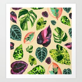 People's Plants Pattern Art Print