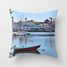 Eel Pond, Woods Hole Falmouth on Cape Cod in Massachusetts Throw Pillow