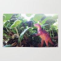 dinosaur Area & Throw Rugs featuring Dinosaur by cafelab