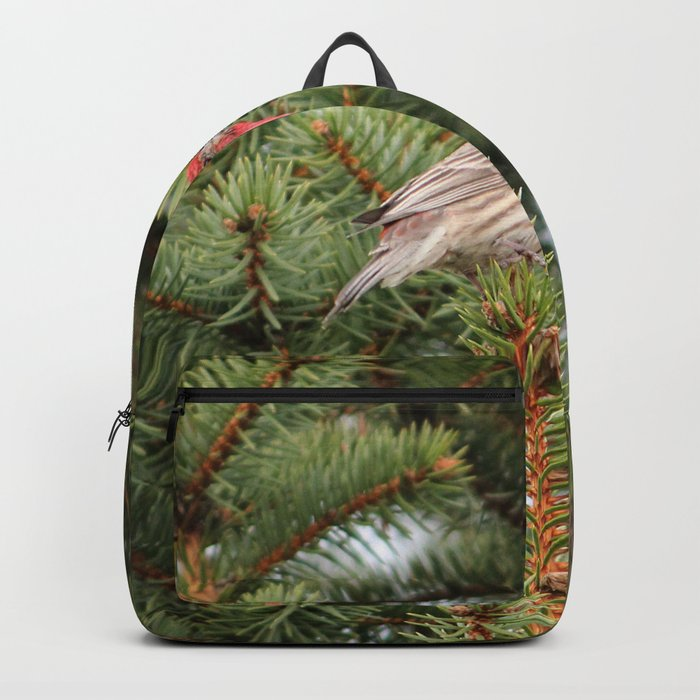 Red Headed Finch Backpack