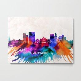 Antwerp Skyline Metal Print