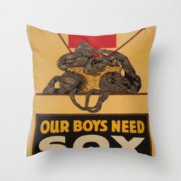 Our Boys Need Sox Throw Pillow