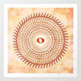 Watercolor music mandala no 2 Art Print