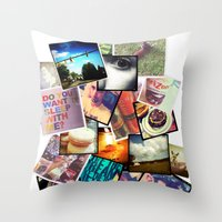 instagram Throw Pillows featuring Instagram  by Nic Moore