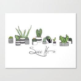 Succ It Canvas Print