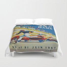 24hs Le Mans, 1959, vintage poster Duvet Cover