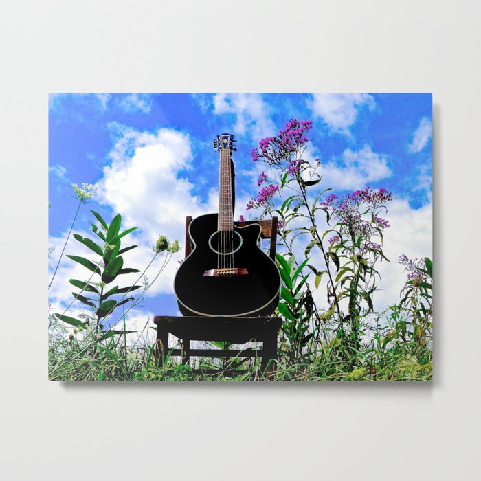 Music & Nature Metal Print