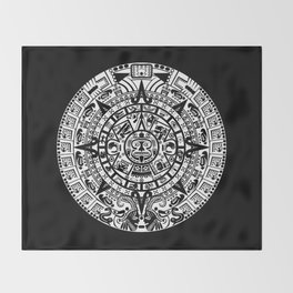 Mayan Calendar Throw Blanket