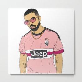 Drake Juventus Jersey Metal Print