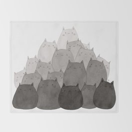 Kitty Pile Throw Blanket