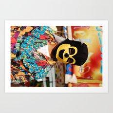 Enmascarado Art Print