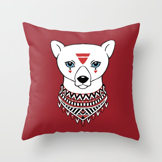 Tribal Bear Throw Pillow