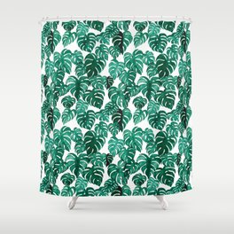 Monstera Forest Shower Curtain