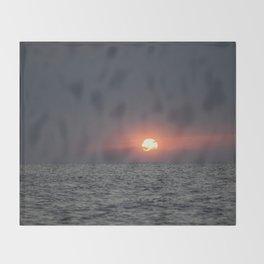 Sunset open sea Throw Blanket