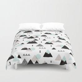 Geometric Fuji mountain japan travel pattern Duvet Cover
