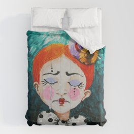 Ginger Clown with a Hat Comforters