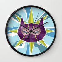 league of legends Wall Clocks featuring Kennen - League of Legends by Sandy Tang