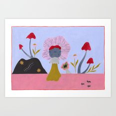 Gemini Fungi and the Three Ants Art Print