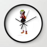 photographer Wall Clocks featuring Photographer by Louis Van Driessche