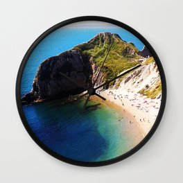 West Lulworth cove 2 Wall Clock