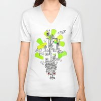 """1984 V-neck T-shirts featuring """"1984"""" by Slight Gallery - Sightly Art for Sale"""