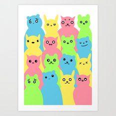 Animal Friends Art Print