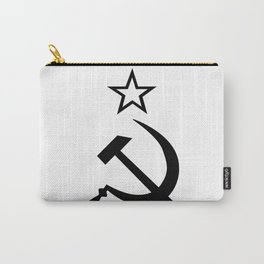 Hammer ans Sickle Black and White Carry-All Pouch