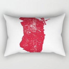 Distressed Bahrain Map Rectangular Pillow