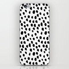 Hand drawn drops and dots on white-Mix & Match with Simplicty of life iPhone Skin