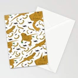 Large Bearded Dragon pattern Stationery Cards
