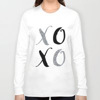 xoxo Long Sleeve T-shirts featuring XOXO by Indulge My Heart