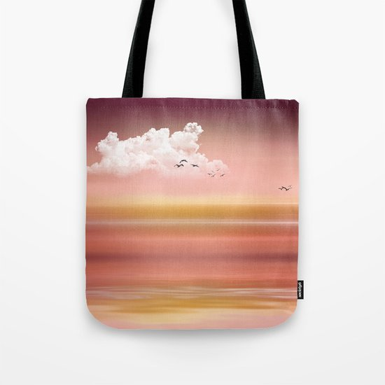 FROM DUSK TO DAWN - a golden sunset Tote Bag