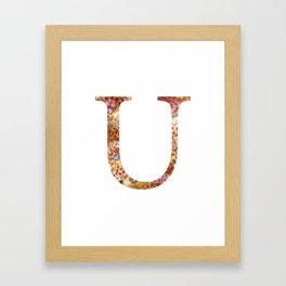 """Initial letter """"U"""" Framed Art Print"""