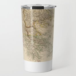 Vintage Map of The Balkans (1832) Travel Mug