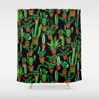 cacti Shower Curtains featuring Cacti by Sian Keegan