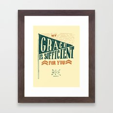 7/52: 2 Corinthians 12:9, part 1 Framed Art Print