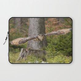 Eagle Owl In Flight. Laptop Sleeve