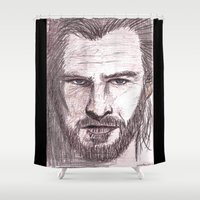 thor Shower Curtains featuring Thor by jamestomgray
