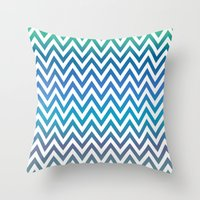 chevron Throw Pillows featuring Chevron by David Zydd
