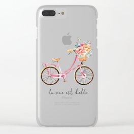 La Vie Est Belle Clear iPhone Case