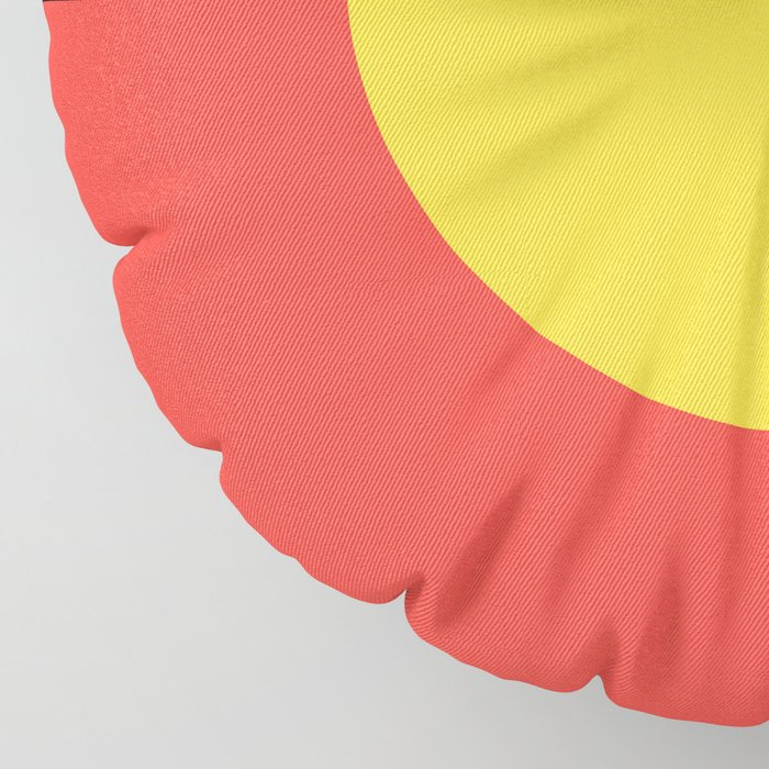 Australian Aboriginal Flag Floor Pillow