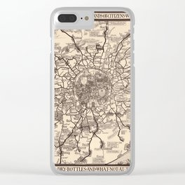 London Bus Map 1928 Clear iPhone Case